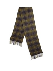 Barbour Merino Wool And Cashmere Scarf Plaid Multi