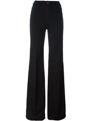 7 For All Mankind High Rise Flare Jeans Black