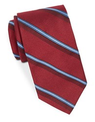 Brooks Brothers Silk Diagonal Striped Tie Red