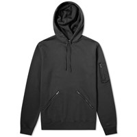 Saint Laurent Zip Detail Hoody Black