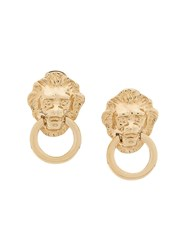 Kenneth Jay Lane Doorknocker Earrings Gold