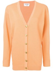 Chanel Vintage 1990'S Knitted Cardigan Orange