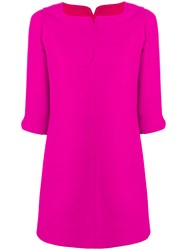 Courreges Short Sleeve Sweater Dress Pink And Purple