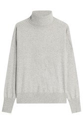 Closed Turtleneck Pullover With Wool Grey
