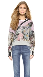 Preen Aria Cropped Sweatshirt Painted Flower