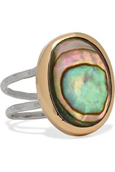 Melissa Joy Manning 14 Karat Gold And Sterling Silver Shell Ring
