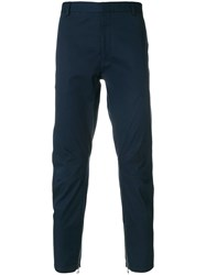 Lanvin Slouched Tailored Trousers Blue