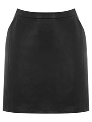 Oasis Sophia Leather Mini Skirt Black