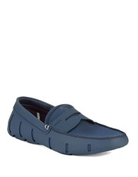 Swims Rubber Penny Loafers Navy