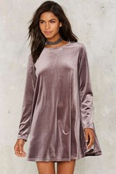 Glamorous Cassie Velvet Mini Dress Lilac