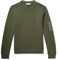 Sandro Loopback Cotton Jersey Sweatshirt Army Green