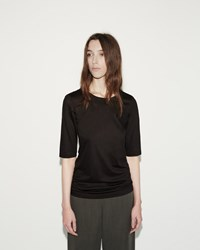 Jil Sander Cotton Modal Tee Black