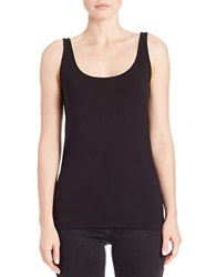 Lord And Taylor Petite Iconic Fit Tank Top Black