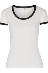 R 13 R13 Slub Cotton T Shirt White