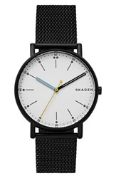Skagen Men's Signatur Mesh Strap Watch 40Mm Blue White Gold