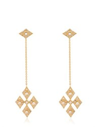 Perlota For Eva Cross Pendant Earrings