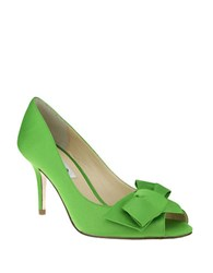 Nina Fraser Satin Pumps Green