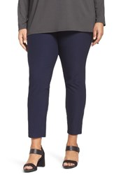 Eileen Fisher Plus Size Women's Slim Washable Stretch Crepe Ankle Pants Midnight