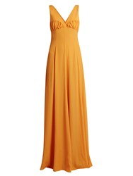 Emilia Wickstead Fanina Crossover Back Crepe Gown Orange