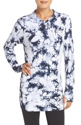 Climawear Women's 'Destination' Hoodie Blue Black Tie Dye White