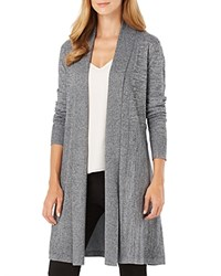 Phase Eight Lili Marled Longline Cardigan Salt Pepper