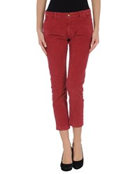 Monocrom Trousers 3 4 Length Trousers Women Garnet