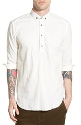 Men's Publish Brand 'Dion' Three Quarter Sleeve Partial Button Woven Shirt