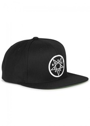 Mens Caps Black Scale Ophidia Black Snapback Cap
