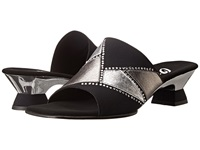 Onex Mozaic Black Silver Pewter Women's Dress Sandals