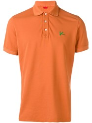 Isaia Logo Polo Shirt Orange
