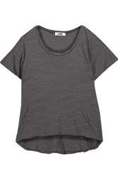 Lna Hand Me Down Slub Stretch Jersey T Shirt Dark Gray