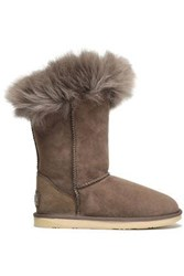 Australia Luxe Collective Woman Shearling Boots Taupe