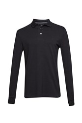 French Connection Men's Brunswick Long Sleeved Polo Shirt Black
