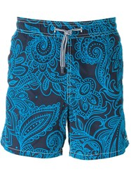 Mc2 Saint Barth Mc2 'Gustavia Velvet' Swim Shorts Blue