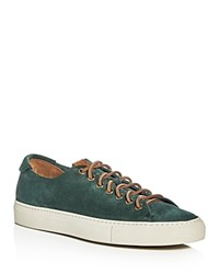 Buttero Tonino Suede Lace Up Sneakers Green