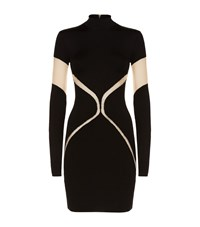 Balmain Sheer Detail Bodycon Dress Female Black