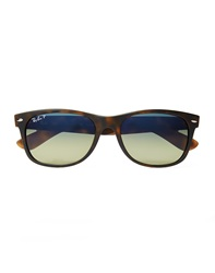 Ray Ban Wayfarer Sunglasses In Tortoise Shell With Polarised Lenses