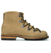 Viberg Hiker Whole Cut Rough Out Suede Boots Sand