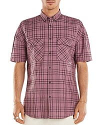 Zanerobe Rugger Plaid Regular Fit Button Down Shirt Pink Black