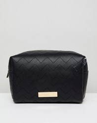 Carvela Ryley Rectangle Cosmetic Bag Black
