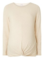 Dorothy Perkins Maternity Soft Touch Knot Jumper Beige