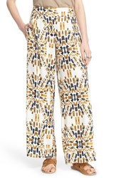 Women's Free People 'Over And Under' Print Wide Leg Pants