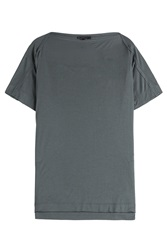 Donna Karan New York Cashmere Blend T Shirt Grey