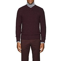 Inis Meain Donegal Effect Wool Cashmere Sweater Wine