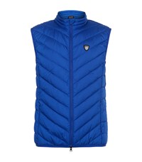 Armani Quilted Gilet Blue