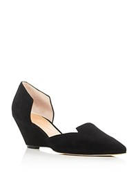 Sigerson Morrison Wenda D'orsay Pointed Toe Wedge Pumps Black