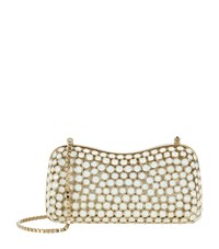 Elie Saab Crystal Studded Box Clutch Female Neutral