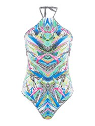 Freya Tropicool Placement Swimsuit Multi Coloured Multi Coloured
