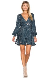 Keepsake Heat Wave Mini Dress Navy