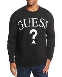 Guess Logo Crewneck Sweatshirt 100 Exclusive Jet Black